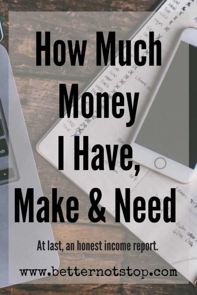 How much money I really have, How much money I really have, make and need.
